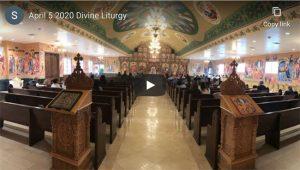 YouTube April 5 Divine Liturgy