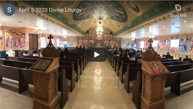YouTube April 5 Divine Liturgy